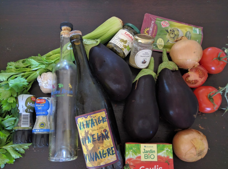 Caponata or french sloppy joe ingredients