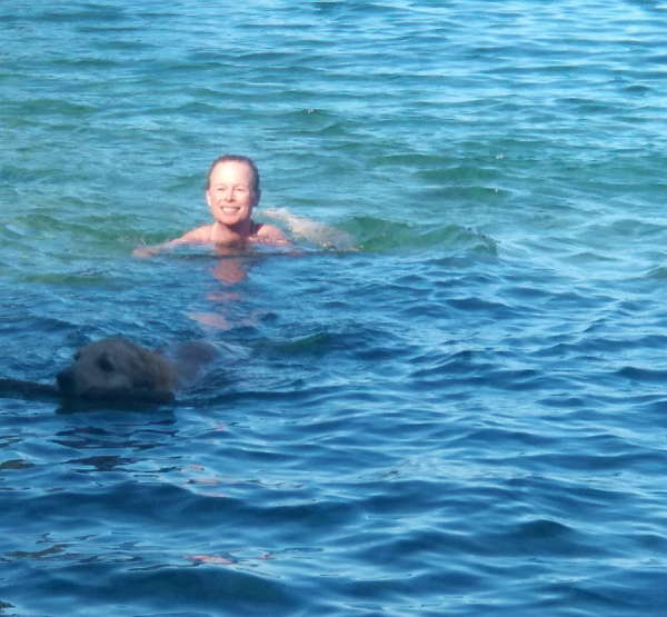 Swimming with Smokey