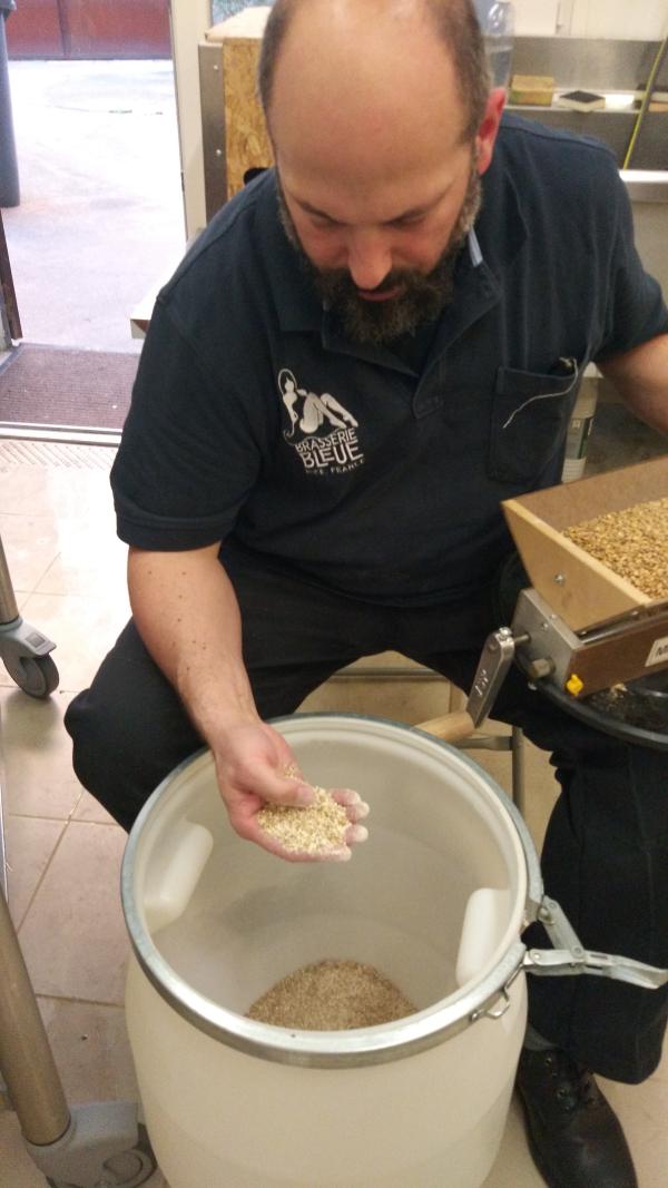 Dan with the malt flour