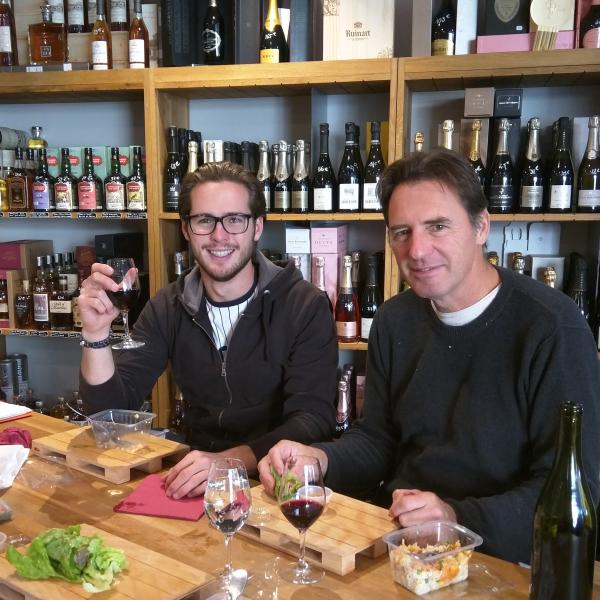 Max and Jean-Marc at Vin Sobres