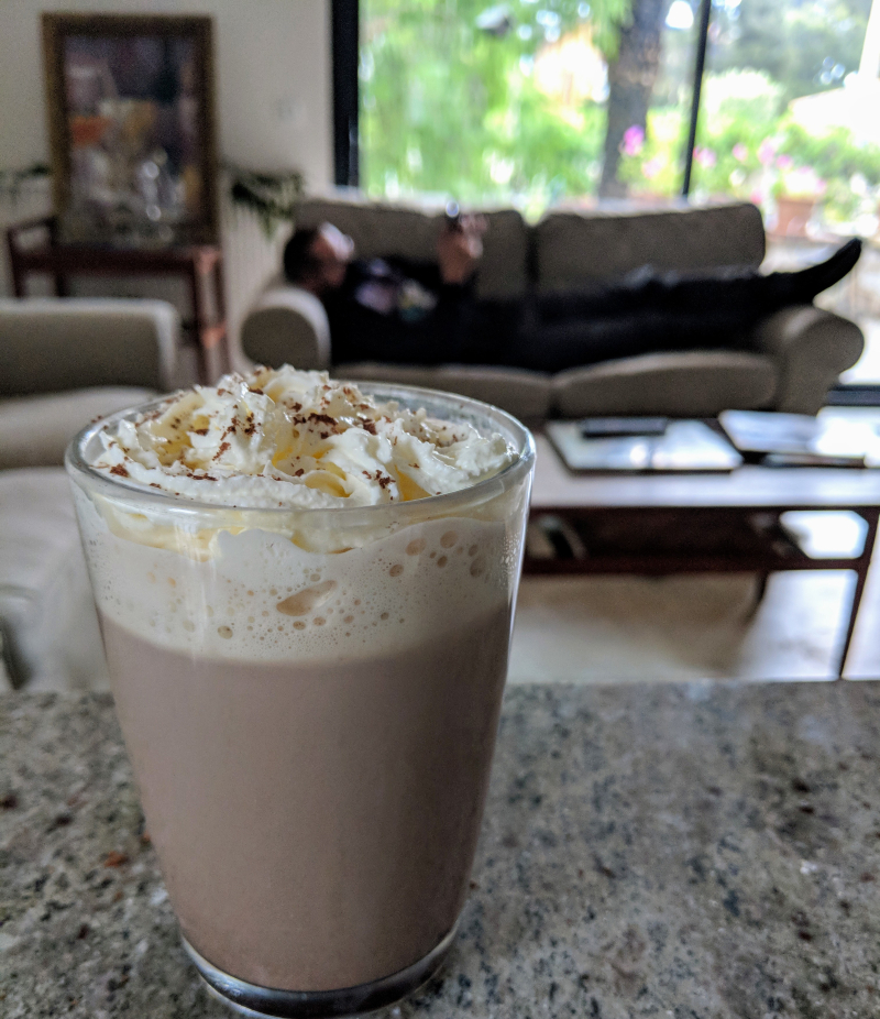 Hot chocolate whipped cream IKEA couches