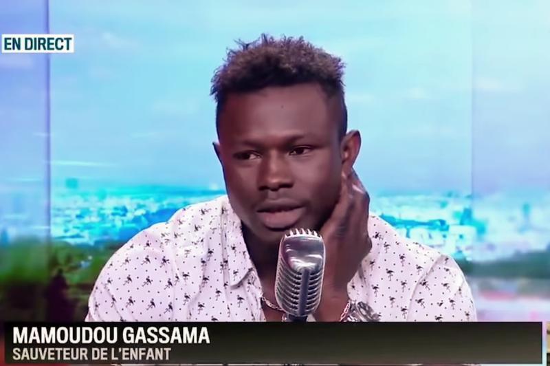 Mamoudou Gassama interview on RMC