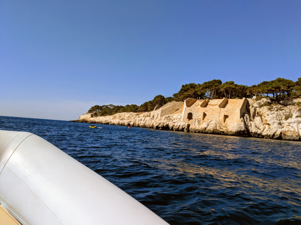 Ruiins near cassis france sea