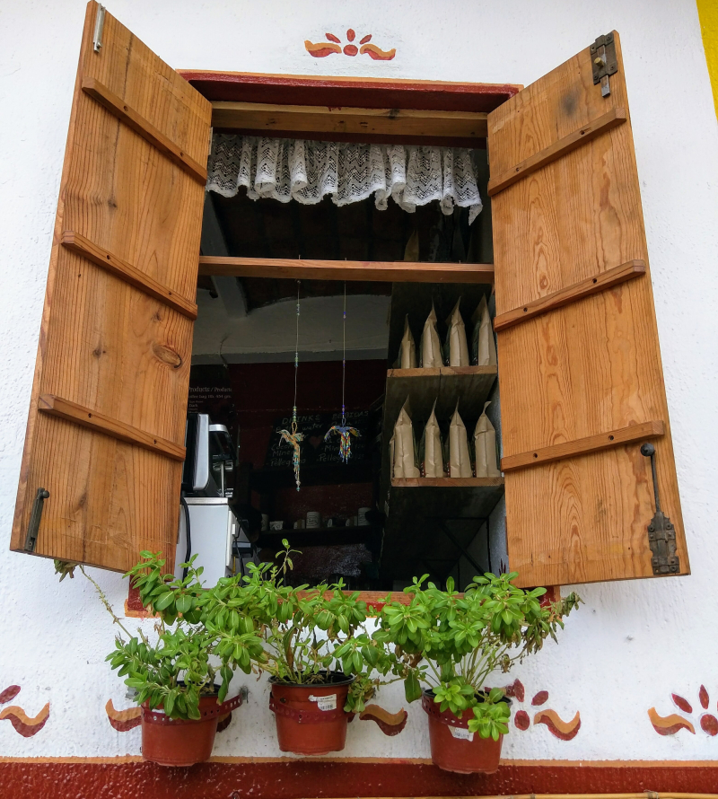 Window and shutter in Mexico