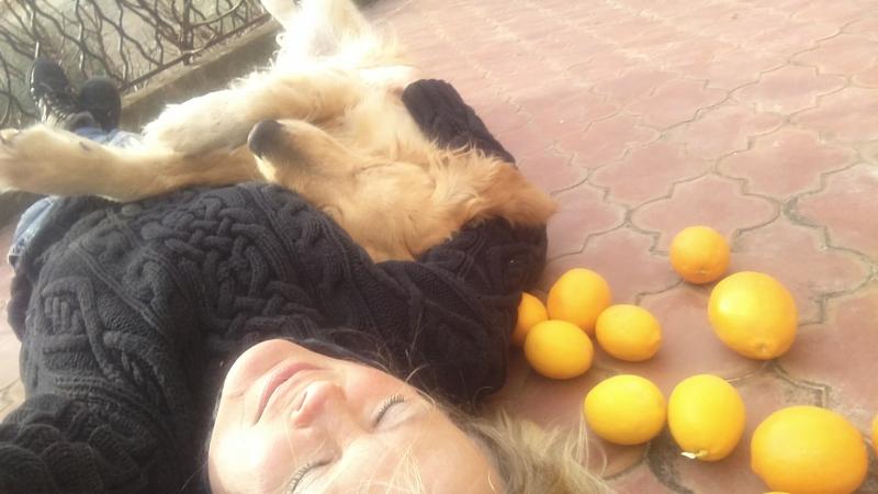 Kristi and smokey and lemons