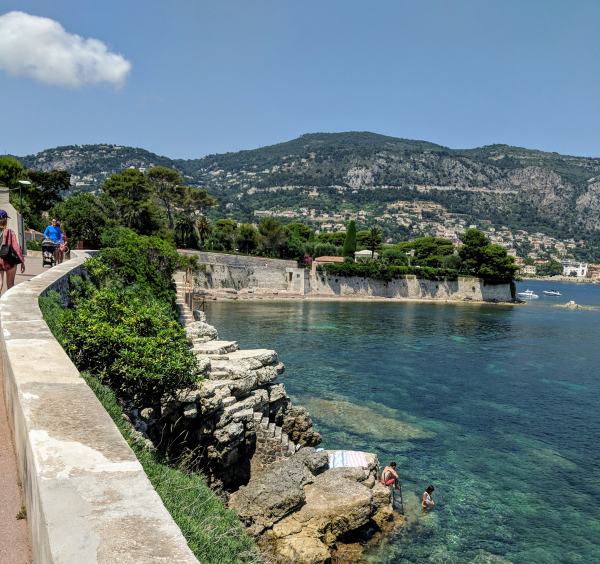 On the walkway to cap ferrat view toward beaulieu-sur-mer