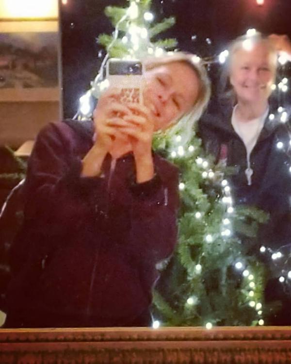 Kristi and jules christmas lights