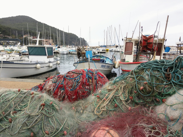 Port of la madrague boats pointu filet fishnet