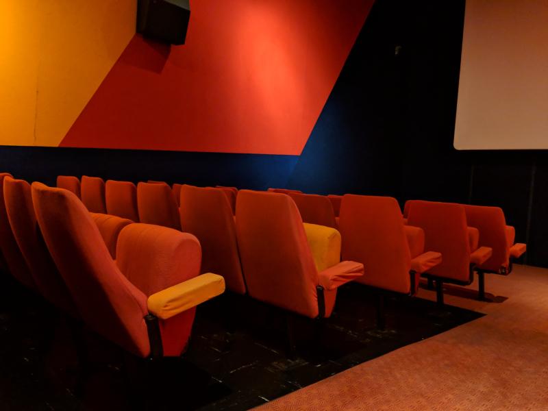 Movie theater seats in la ciotat cinema lumiere