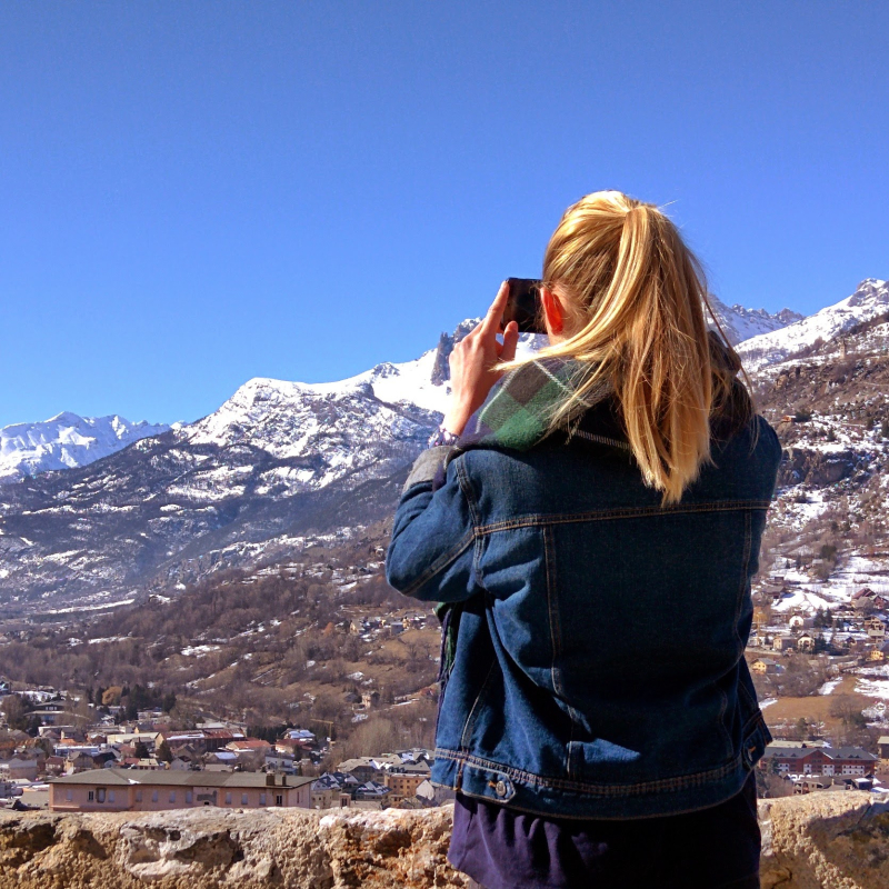 Jackie in Briancon Alps France