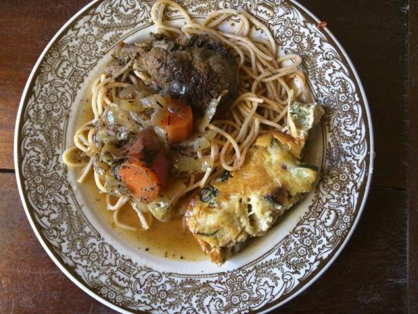 Zucchini gratin casserole