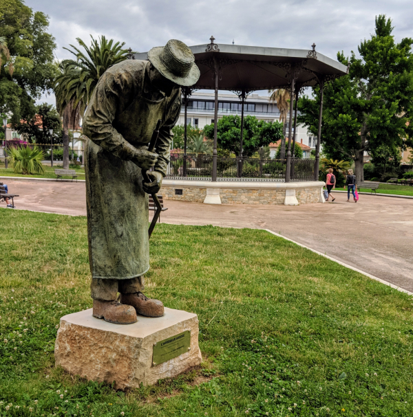 Park in la ciotat provence France