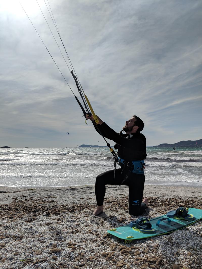 Max kitesurf giens beach plage