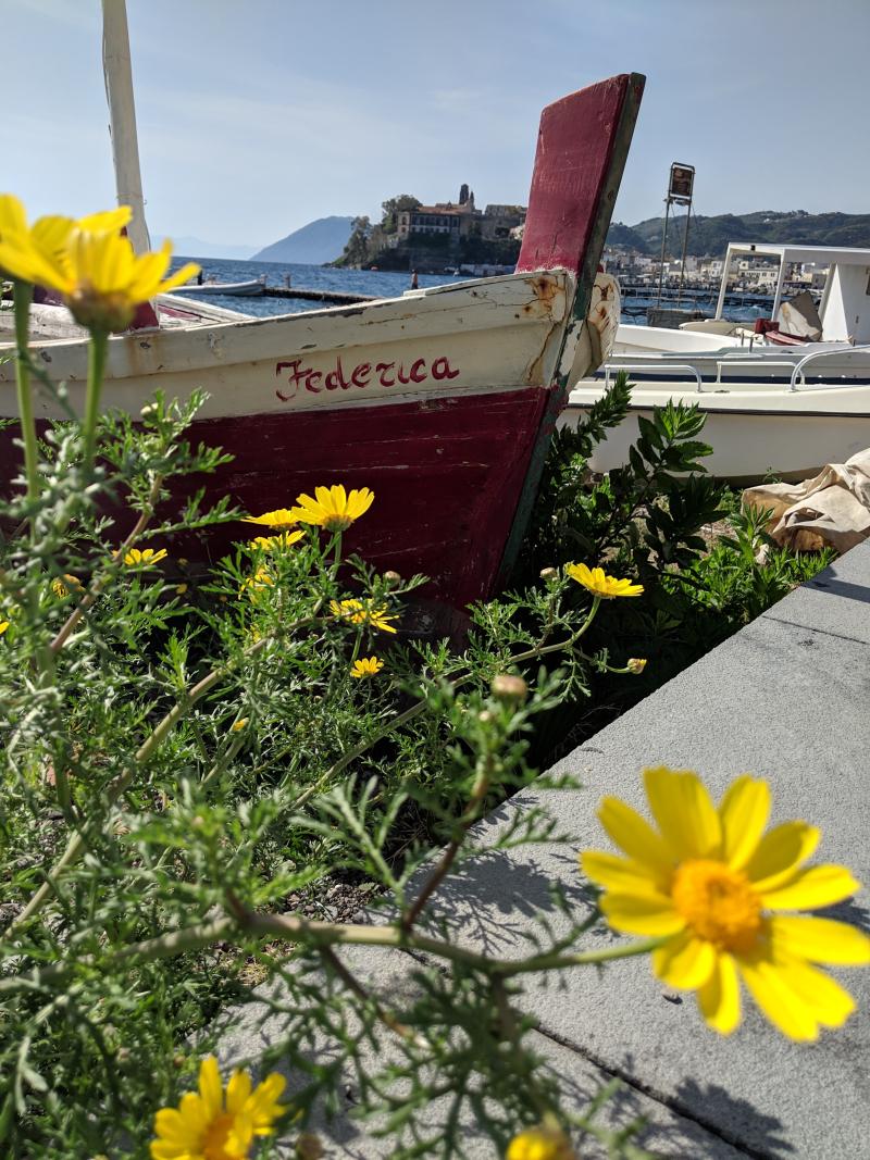 Old boat pointu sicily