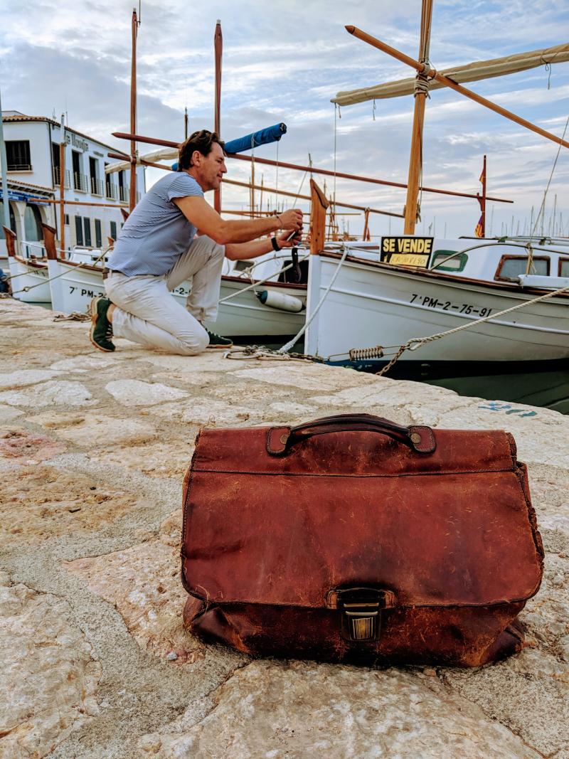 Mr Sacks and Jean-Marc pointu boats
