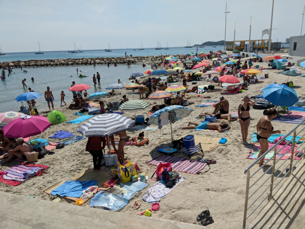 Beach in la ciotat canicule heatwave