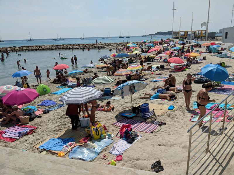 Beach in la ciotat canicule heatwave
