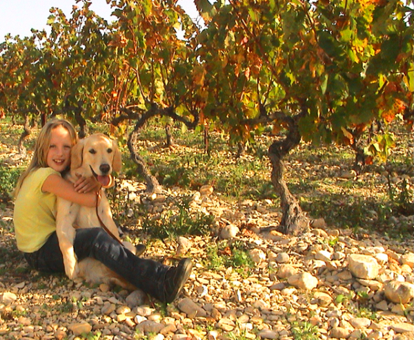 Jackie and Breizh at our first vineyard