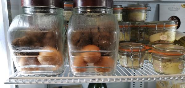 Eggs truffles foie gras