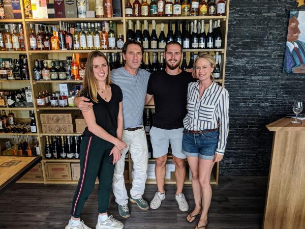 Jackie Jean Marc Max Kristi at Vin Sobre Wine shop La Ciotat