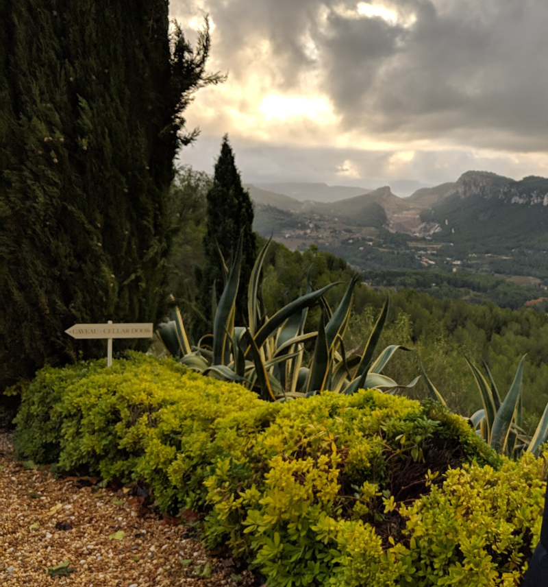 View from chateau de pibarnon