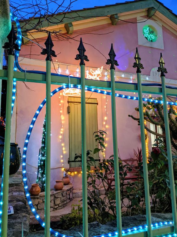 French Christmas lights and decor