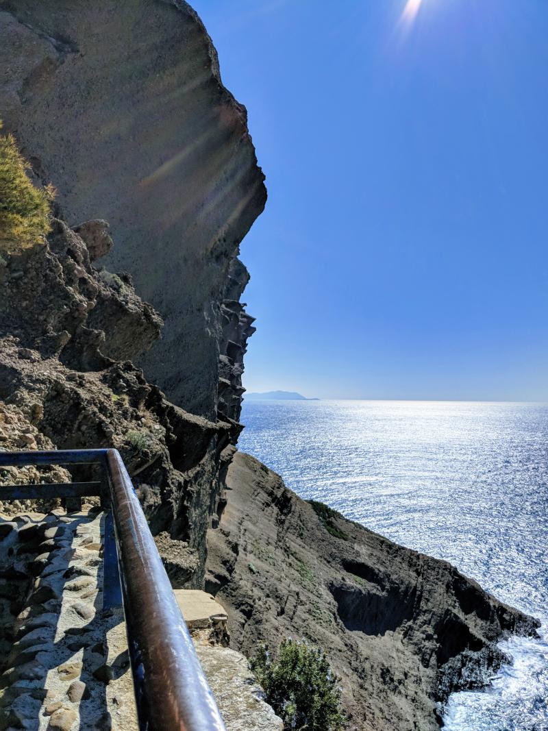Cliff falaise along coastline la ciotat