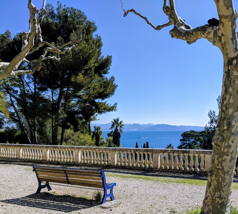 Parc mugel bench sea