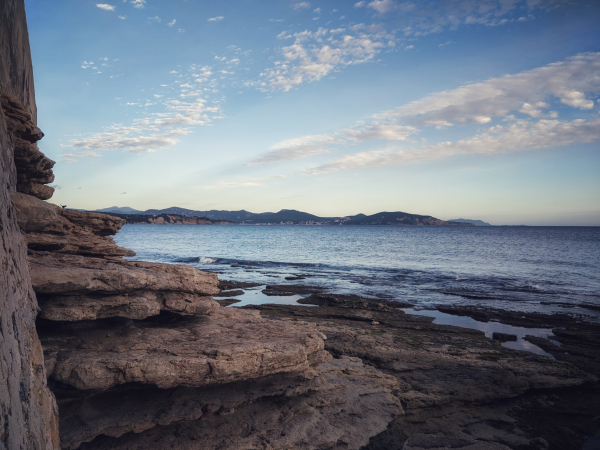 Rocky beach in La Ciotat