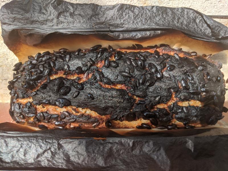 Burnt sourdough
