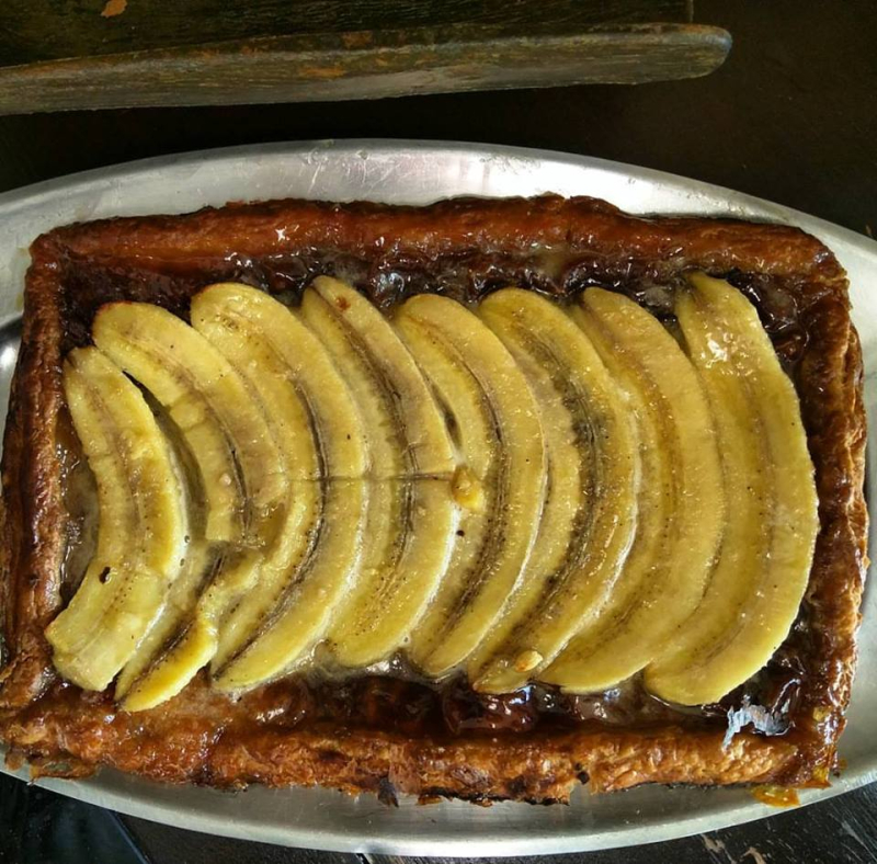 Banana tart for shortcrust pastry