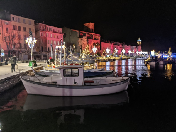 City lights christmas la ciotat port