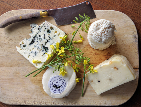 French cheese platter cheese knife roquefort