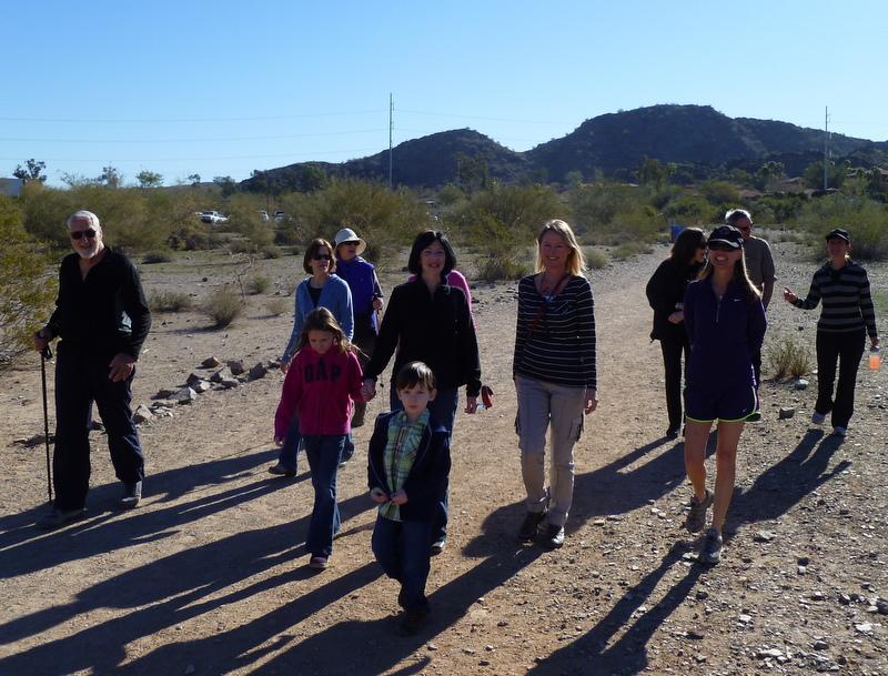 Herm hike in the desert