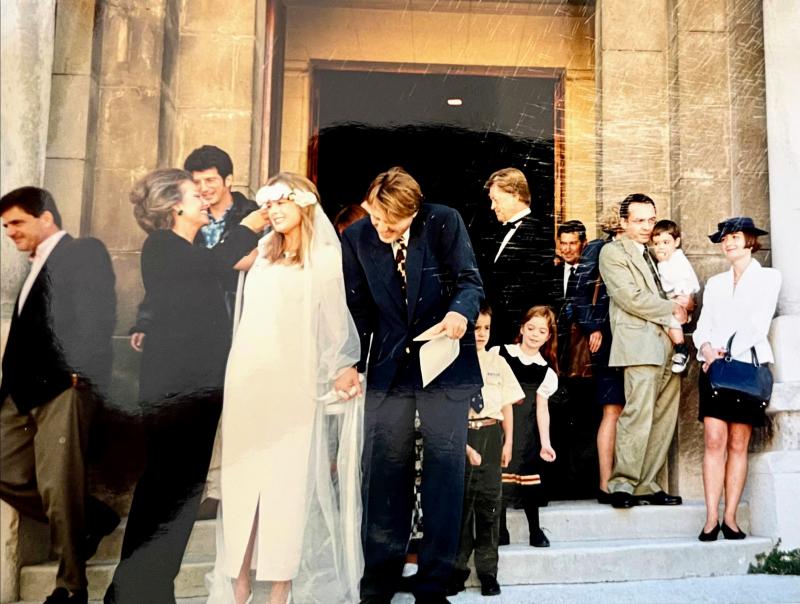 French American marriage eglise church Marseilles wedding noces