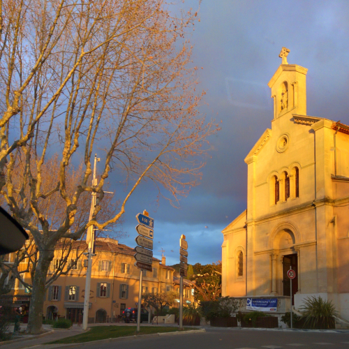 Eglise church in st cyr le glas sonne en france