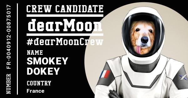 Smokey DearMoon astronaut crew