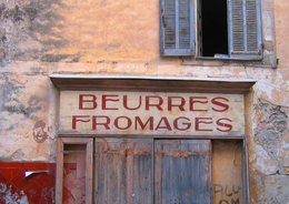 butter and cheese shop in old Salernes (c) Kristin Espinasse