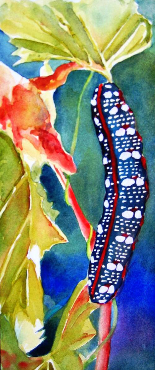 Watery Watercolor Dot by Karen Leveille